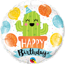 "Birthday Party Cactus Foil Balloon (18"") 1pc"